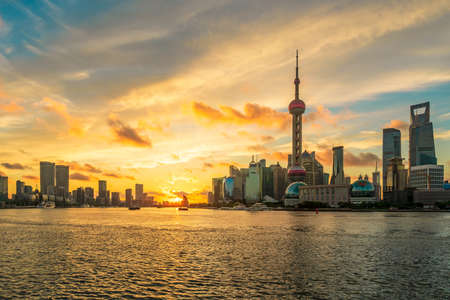 Beautiful city architecture scenery in Shanghai, China