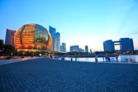 civic center: hangzhou international conference center and Civic center building