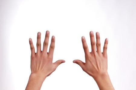 Outstretched hands Foto de archivo