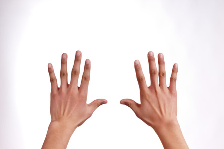 Outstretched hands Stock Photo