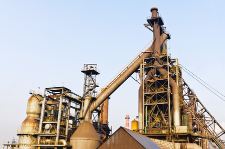 steelworks: Hangzhou steelworks equipment in China Stock Photo