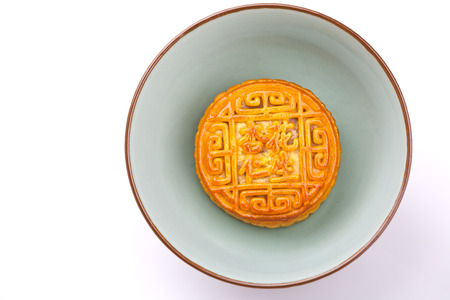 semisweet: Chinese traditional food--Moon cake Stock Photo