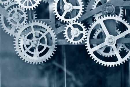 grote klok gear set achtergrond Stockfoto