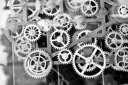gear shape: big clock gear set background