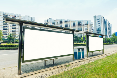 billboard blank: advertisement board Stock Photo