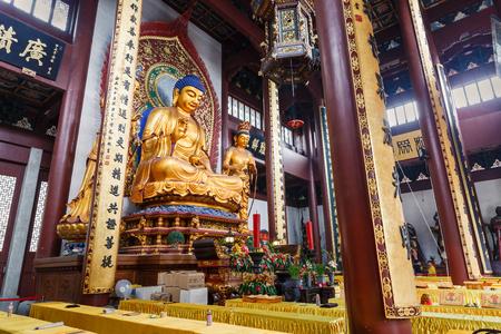 scenic spots: Hangzhou, China - on August 26, 2015: Hangzhou Lingyin Temple Buddha in the interior, lingyin temple is a famous Chinese buddhist temple, lingyin Temple is one of the famous scenic spots in Hangzhou . Editorial