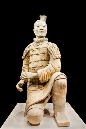 Xi an, China - on September 26, 2015: famous qin shihuang terracotta warriors, it is the eighth wonder of the world, qin shihuang terracotta army is one of the world cultural heritage.