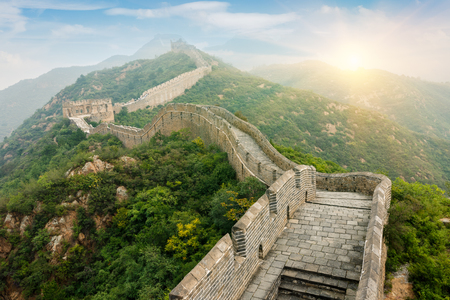 Grote muur in Beijing in China Stockfoto