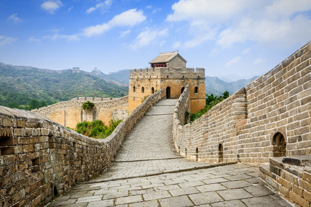 great: Great Wall in Beijing in China Stock Photo