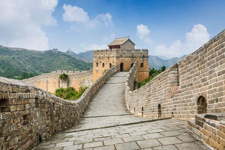 muralla china: Gran Muralla en Beijing en China Foto de archivo