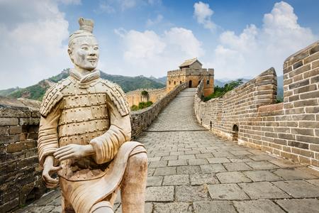 Great Wall in Beijing in China Standard-Bild