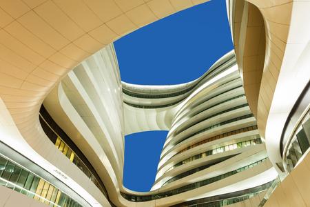galaxie: Moderne Geschäftsgebäude mit blauem Himmel in Peking