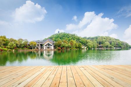 Hangzhou park beautiful natural scenery in China