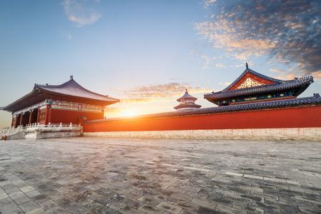 cielo: Templo del Cielo en Beijing, China, s�mbolo chino. Editorial