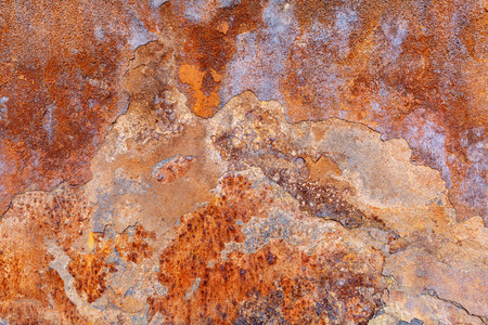 corrosion: Close shot by the weathering corrosion iron surface Stock Photo