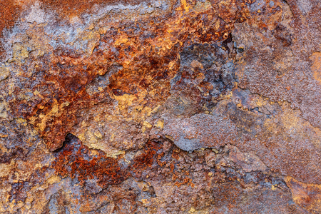 weathering: Close shot by the weathering corrosion iron surface Stock Photo