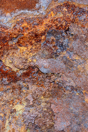 close shot: Close shot by the weathering corrosion iron surface Stock Photo
