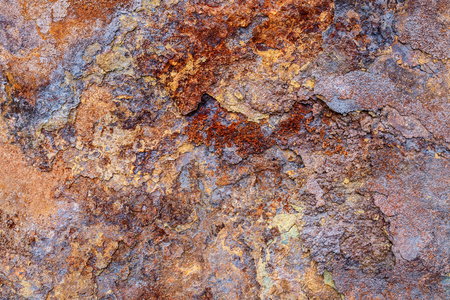 ugliness: Close shot by the weathering corrosion iron surface Stock Photo