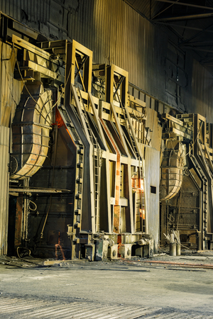 furnace: Metal smelting furnace in steel mills Stock Photo