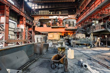 smelting: Metal smelting furnace in steel mills Editorial