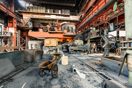 furnace: Metal smelting furnace in steel mills Editorial
