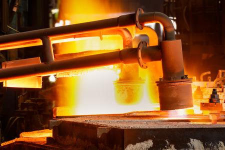 Metal smelting furnace in steel mills Banque d'images