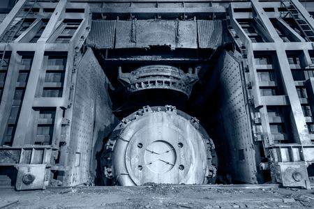 smelting plant: Metal smelting furnace in steel mills Stock Photo