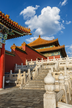 Forbidden City: The ancient royal palaces of the Forbidden City in Beijing, China Editorial