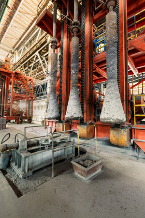 metallurgical: Industrial Metallurgical equipment scene in steel mill