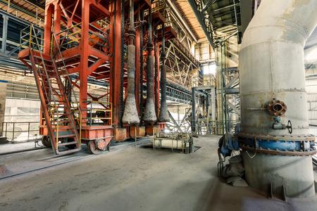 steel mill: Industrial Metallurgical equipment scene in steel mill