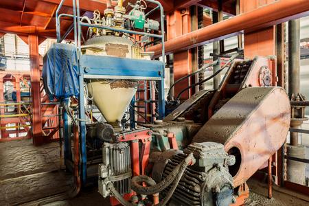 steel mill: Industrial motor driven equipment scene in steel mill