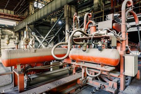 steel mill: Industrial Pressure driven equipment scene in steel mill