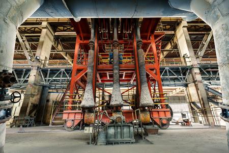 metallurgical: Industrial Metallurgical equipment scene in steel mill