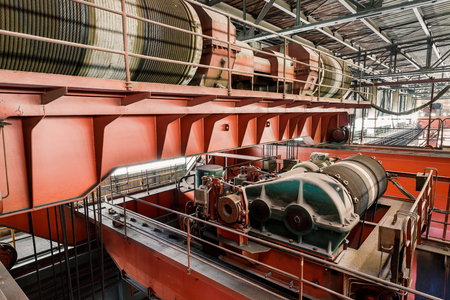 steel mill: Large industrial crane equipment scene in steel mill