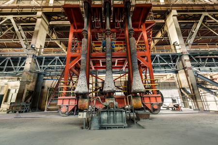 steel works: Hangzhou, China - on December 3, 2015,hangzhou Steel mills industrial Metallurgical equipment scene,the steel works is a large iron and steel factory in hangzhou
