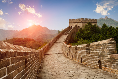 majestic: The magnificent Great Wall of China at sunset