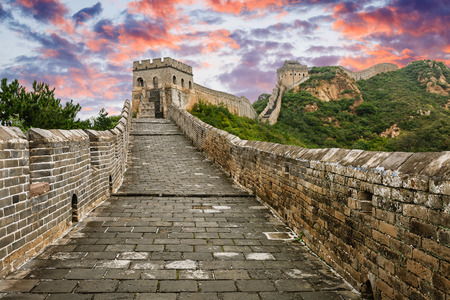 Great: The magnificent Great Wall of China at sunset
