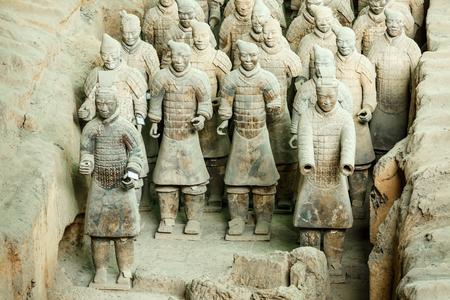 Xi 'an, China - am 26. September, 2015: die berühmteste Statue der Terrakotta-Krieger der Welt, das achte Wunder der Welt, qin shihuang Terrakotta-Armee ist eine der Weltkulturerbe. Editorial