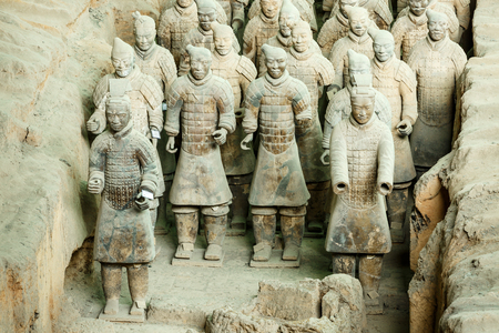 Xi 'an, China - on September 26, 2015:the world's most famous statue of the Terra Cotta Warriors,The eighth wonder of the world,qin shihuang terracotta army is one of the world cultural heritage. Editorial