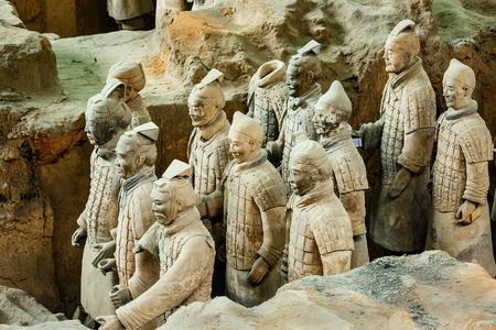 Xi an, China - on September 26, 2015:the worlds most famous statue of the Terra Cotta Warriors,The eighth wonder of the world,qin shihuang terracotta army is one of the world cultural heritage.