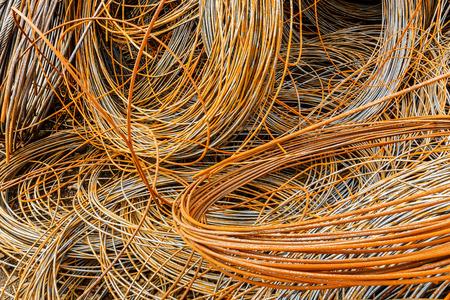 clutter: Pile up clutter metal steel wire in Steel mills