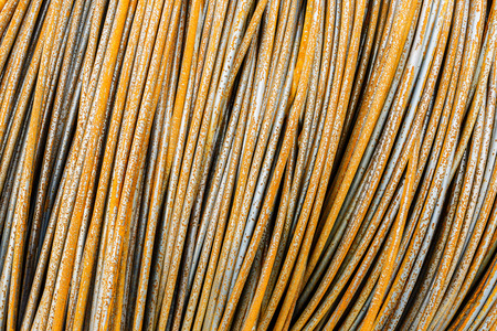 steel wire: Pile up clutter metal steel wire in Steel mills