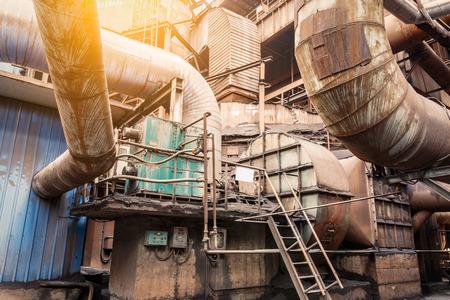 mills: Rusty industrial pipelines in Steel mills