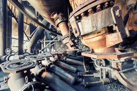 abandoned factory: Abandoned factory,old industrial equipment background Stock Photo