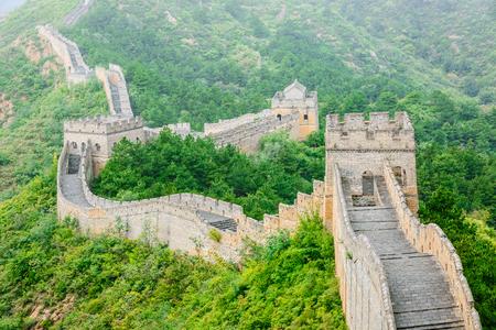 Beautiful scenery of the Great Wall, China Standard-Bild