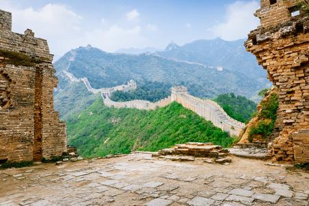 Beautiful scenery of the Great Wall, China Stock Photo