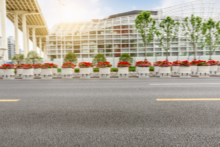 urban road: new asphalt roads scenery of Shanghai urban suburbs