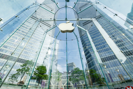 flagship: Shanghai, China - on May 25, 2016:The Apple store at the IFC Mall in Lujiazui Financial District,Apple Corp is a high-tech company in the United States. Editorial