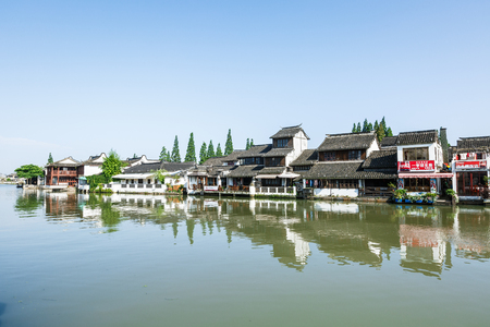 historical buildings: Shanghai,China - June 30,2016:Zhujiajiao ancient town of historical buildings. Editorial