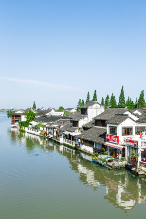 Shanghai, China - June 30, 2016: the famous ancient town of zhujiajiao attractions landscape,Zhujiajiao is a famous historical and cultural town of Shanghai. Editorial